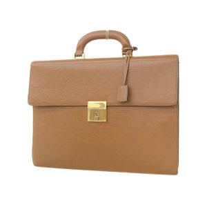 CELINE Celine Leather Briefcase Business Bag Hand Brown [20180808]
