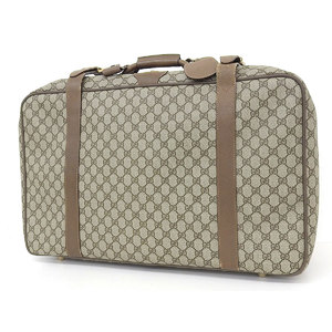 GUCCI Gucci Old GG Pattern PVC Vintage Travel Bag Hand Beige Brown [20180820]