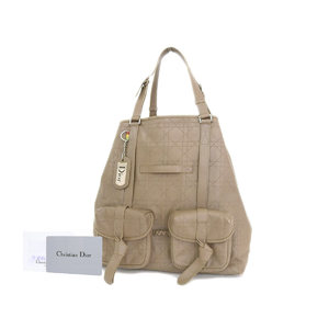 Christian Dior Rasta Leather Tote Bag Grayish