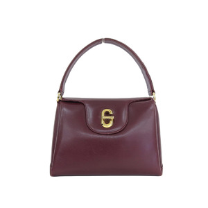 GUCCI Gucci vintage G hardware leather handbag one shoulder red series Bordeaux [20180808]