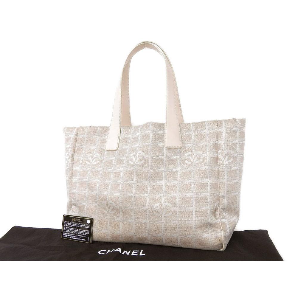 8f5b9bed44b145 CHANEL Chanel New Travel Line Nylon Tote Bag Shoulder Pink Beige 9th  [20180808]