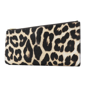 CELINE Celine Harako Leopard clutch bag second party leopard print brown [20180831]