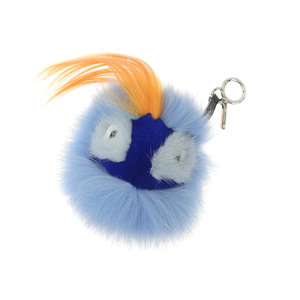 FENDI Fendi Monster Oret Bag Bugs Charm Blue Orange [20180813]
