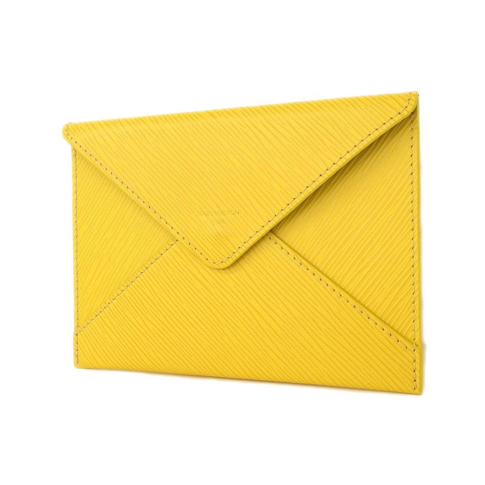LOUIS VUITTON Louis Vuitton Epi Letter Case Clutch Bag Second Pouch Yellow Tassili [20180808]