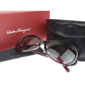 Salvatore Ferragamo square frame sunglasses eyewear red system Bordeaux 58 □ 15 2160 B [20180824]