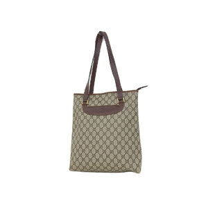 GUCCI Gucci Old Tote Bag Shoulder GG Canvas Brown Beige [20180831]