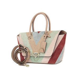 Valentino Garavani Galavani Lock Studs 2way handbag shoulder suede beige [20180907]