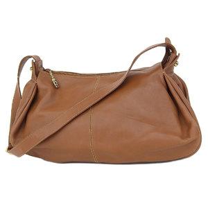 f175c8dcd46e7b GUCCI Gucci Vintage Bamboo Hardware Shoulder Bag Leather Brown Gold  [20180831]