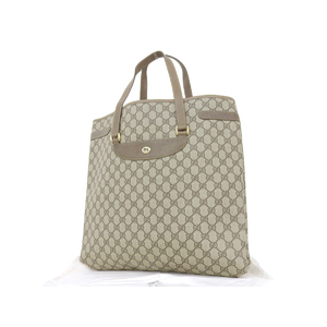 GUCCI Gucci PVC Leather GG Interlocking Vintage Tote Bag Shoulder Hand Brown Beige 39.02. 061 [20180824]