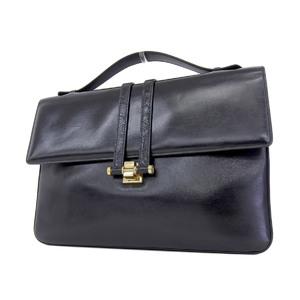 GUCCI Gucci Interlocking Vintage Clutch Bag Second Black [20180831]