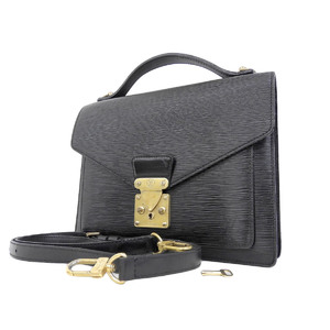 LOUIS VUITTON Louis Vuitton Epi Monseau 2way Handbag Shoulder Black Noir M52122 [20180913]