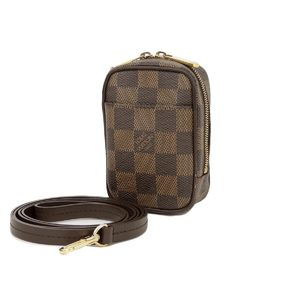 LOUIS VUITTON Louis Vuitton Damier Etui Kapi PM Digital Camera Case Pochette Dark Brown N61738 [20180831]