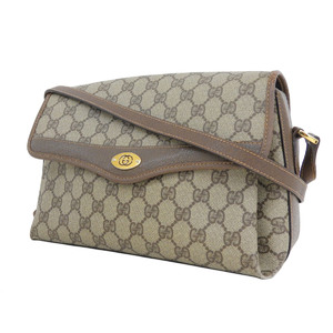 GUCCI Gucci Coated Canvas PVC GG Interlocking Vintage Shoulder Bag Brown [20181018]