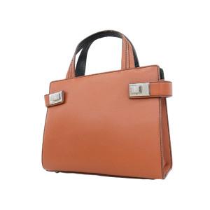 MORABITO Morabit leather mini handbag orange green silver hardware [20180913]