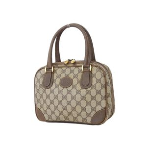 GUCCI Gucci PVC Leather Interlocking Handbag Beige Brown [20180824]
