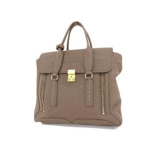 3.1 phillip lim Phillip rim Satchel M tote bag shoulder hand brown [20181012]