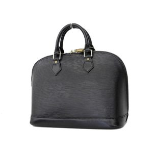 LOUIS VUITTON Louis Vuitton epi alma handbag black noir M52142 [20180824]