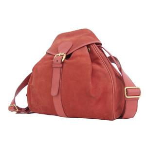 GUCCI Gucci suede interlocking vintage backpack rucksack red [20180824]