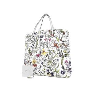 GUCCI Gucci Flora Floral Pattern Canvas Vintage Tote Bag Shoulder Hand Multicolor 295252 [20180914]