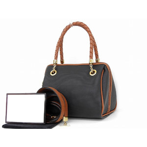 BOTTEGAVENETA Bottega Veneta Intrecherto 2way handbag fringe vintage black brown shoulder tassel [20190111]