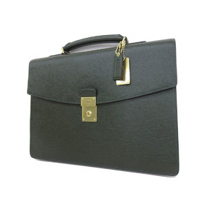 COACH Coach leather briefcase paperwork business bag hand green gold hardware [20181018]