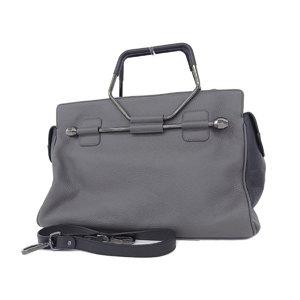 VIKTOR & ROLF Victor And Rolf Leather 3way Handbag Tote Shoulder Grage [20181018]