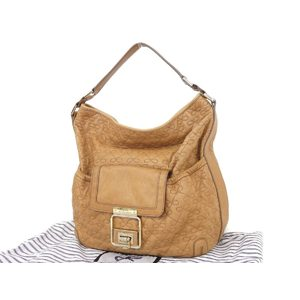 Anya Hindmarch Hind March Ribbon Stitch Leather One Shoulder Bag Tote Fringe Brown [20180913]