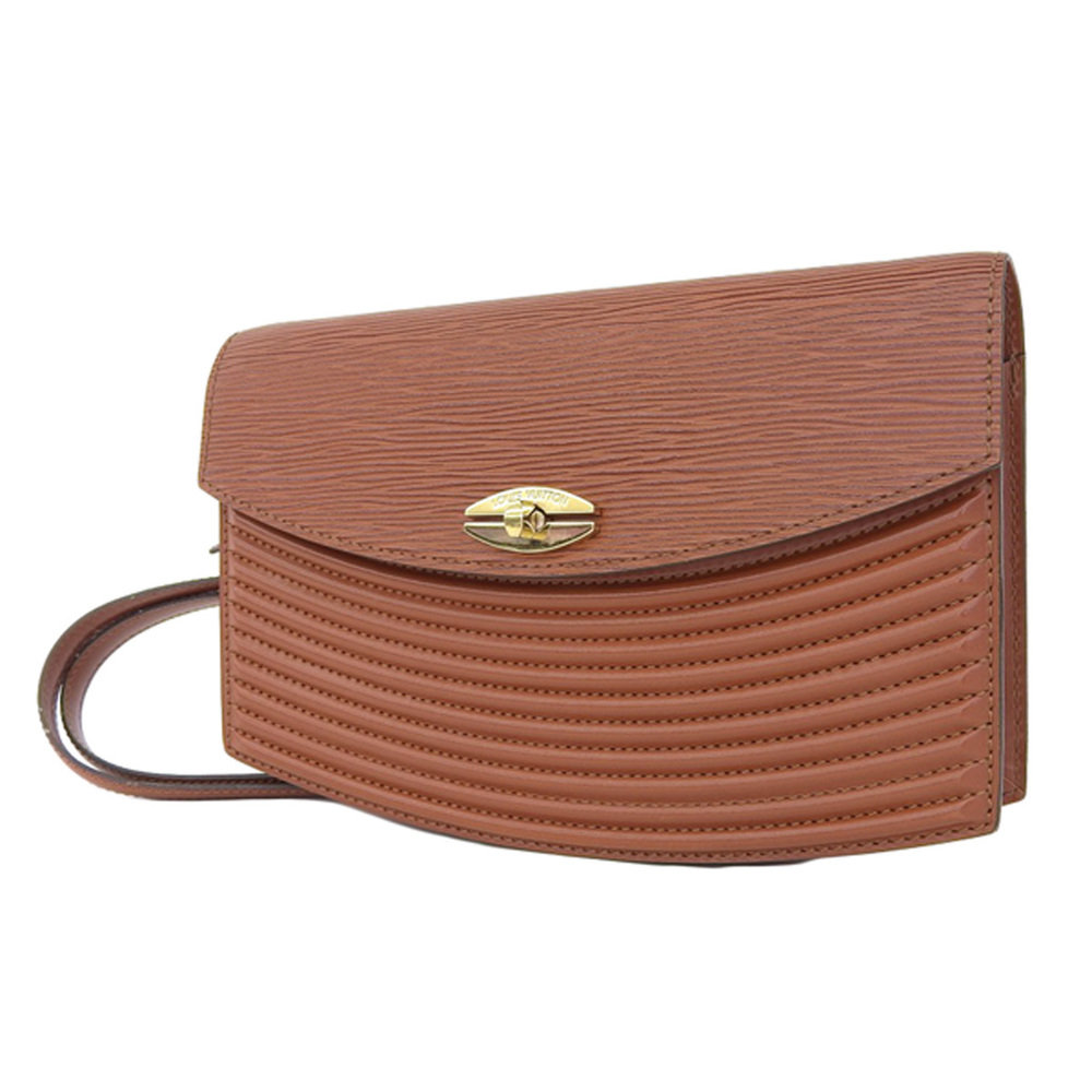 LOUIS VUITTON Louis Vuitton Epi Line Tilsit Shoulder Bag Clutch Second Brown Kenya M52483 [2018018]
