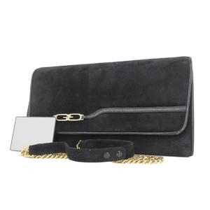 GUCCI Gucci suede vintage clutch bag 2WAY second shoulder black [20180914]