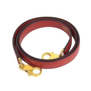 HERMES Hermes Kerry Bored Shoulder strap Bock Scarf Rouge viv gold hardware [20190117]