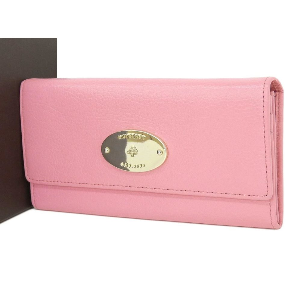 3afded5710 MULBERRY Mulberry Leather CONTINENTAL WALLET Long Bi-fold Wallet Pink Gold  Hardware [20180913]
