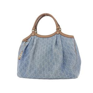 GUCCI Gucci GG Pattern Denim Tote Bag Shoulder Hand Blue 211943 [20181004]