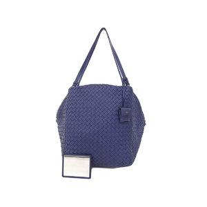 BOTTEGA VENETA Bottega Veneta Intrecherto Lambskin Boston bag 紺 Navy [20181004]