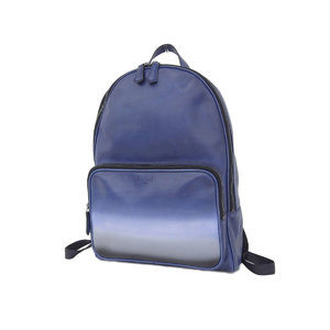 b697803e3d6 Berluti Berlutti Time Off TIME OFF Venetian Leather Backpack Rucksack Blue  White  20181018