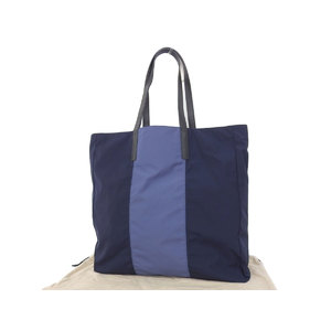 BURBERRY Burberry nylon tote bag shoulder hand shopping blue [20181004]