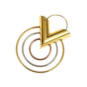 ルイ・ヴィトン(Louis Vuitton) LOUIS VUITTON ルイヴィトン 18SS シングル エセンシャル V トリオ ピアス 金 ゴールド イヤリング M00186 [20190121]