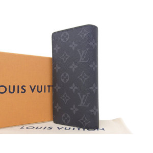 LOUIS VUITTON Louis Vuitton PORTFOUILLE BRASA Two-fold long wallet Monogram Eclipse Black M61697 [20181228]
