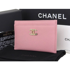 CHANEL Chanel 26th stand Camellia Coco mark card case pink pass business holder [20190117]