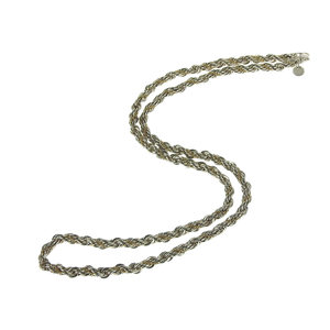 ティファニー(Tiffany) TIFFANY&CO. ティファニー K18YG ツイストネックレス 59.5cm SV925 シルバー [20181018]