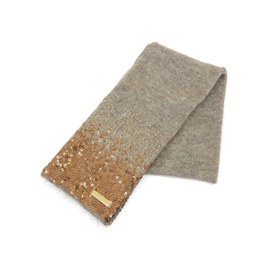 LOUIS VUITTON Louis Vuitton Sequin Muffler Mohair Wool Brown Stole [20181109]