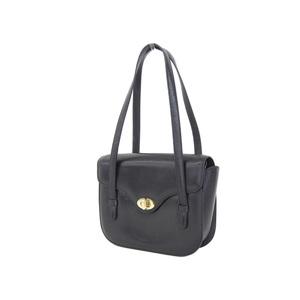 CELINE Celine Macadam bracket vintage handbag shoulder leather black [20181018]