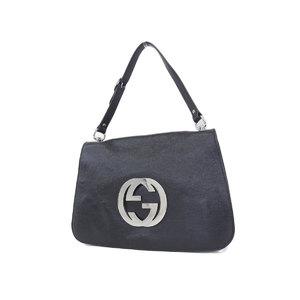 GUCCI Gucci interlocking vintage handbag shoulder black 115746 [20181018]
