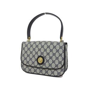 GUCCI Gucci GG Handbag Vintage Old PVC Leather Navy Shoulder [20190117]