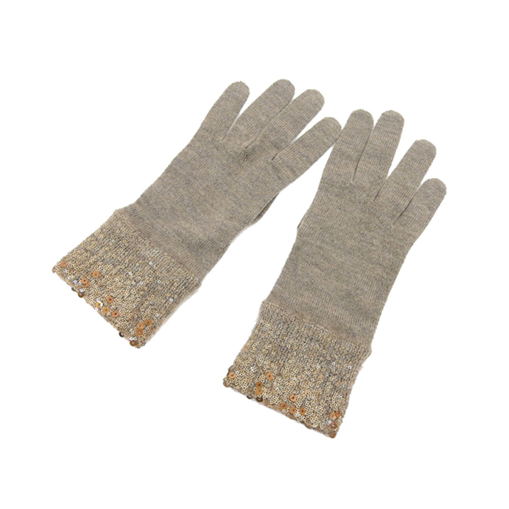 Louis Vuitton Women's Warm Gloves Brown Wool,Mohair