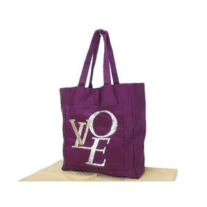 ルイ・ヴィトン(Louis Vuitton) LOUIS VUITTON ルイヴィトン ザッツラブ トートバッグ サテン スパンコール 紫 パープル ショルダー LOVE M95387 [20181130]