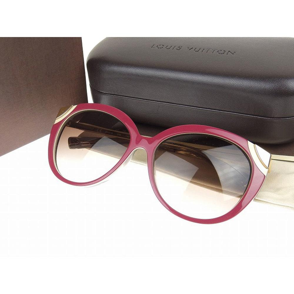 d809d389c0 LOUIS VUITTON Louis Vuitton Amber Sunglasses Z0620E Eyewear Purple Gold 56  □ 16 140  20181116