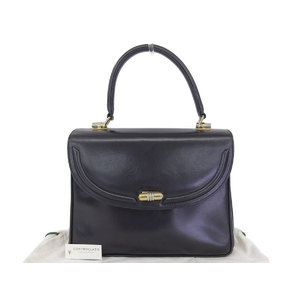 GUCCI Gucci turn lock vintage handbag leather black [20181026a]
