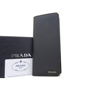 PRADA Prada Safiano Folded Long Wallet Black [20181018]
