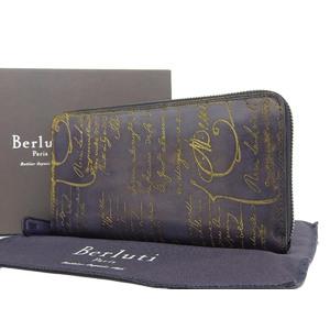 Berluti Berrutti Golden Patine ITAUBA Itauba round zipper wallet calligraphic black [20190117]