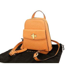 CELINE Celine Turnlock Rucksack Vintage Leather Orange Backpack [20190130]